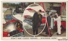 Great AUTO AD to WINTERIZE NOW! ca1955 PRESTONE ANTI-FREEZE Postcard