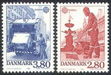 Denmark 1986 Europa/Refuse Truck/Motors/Motoring/Transport Workers 2v set n23564
