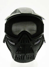 Maschera softair protezione totale nera softair