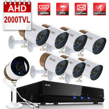 ELEC 8CH 720P HDMI DVR 2000TVL Outdoor CCTV IR-Cut Home Security Camera System