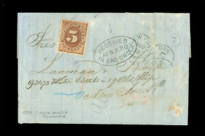 "COLOMBIA 1879 SANTA MARTA to US (NY) ""RECEIVED IN BAD ORDER""+ #J4 5¢ POSTAGE DUE"