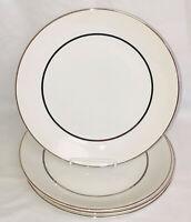 "4 Salem IRONSTONE *SILVER ELEGANCE* 10"" DINNER PLATES*"