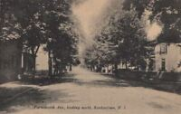 Postcard Farnsworth Ave Looking North Bordentown NJ