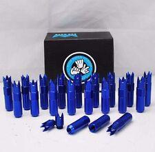 DETECHABLE CROWN END BLUE 84MM 20x ALUMINUM LUG NUT M12X1.5mm CIVIC INTEGRA RX7