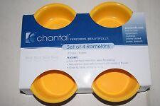 NEW Set of 8 Chantal Ramekins .5 Cups Gold Yellow Stoneware Ceramic Hot Cold