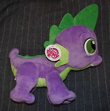 "My Little Pony SPIKE purple green dragon Hasbro stuffed plush 15"" 17"" MLP FiM G4"