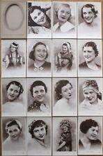 Beauty Queen SET OF 15 1920s Realphoto Postcards: 'La Plus Belle Femme d'Europe'