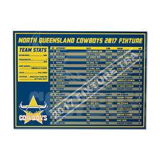 North QLD Queensland Cowboys NRL 2017 Fixture Fridge Magnet Venue Dates Time