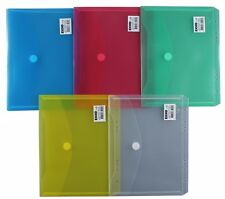 10x Dokumententaschen Umschläge Klettverschluss Abheftrand A5 farbig sortiert