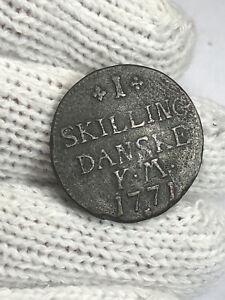 (0334) 1771 Denmark 1 Skilling Dansk