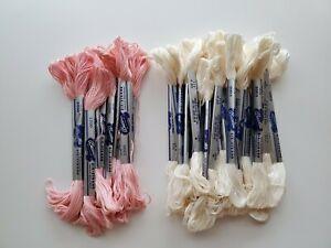 Bucilla six strand mercerized cotton floss thread lot of 35