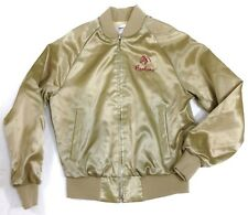 """Vintage 80s King Louie Equestrian """"All Arabian"""" Gold Jacket (S) made in USA #A13"""