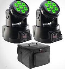 2 x Stagg Headbanger Package LED Wash Moving Head 7 x 10W RGBW DMX Disco DJ Band
