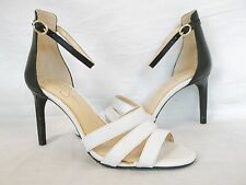 Jessica Simpson Size 7 M Maselli Black White Leather Shoes Heels New Womens NWOB