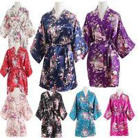 b21c7c39a14d6 Silk Satin Floral bridesmaid robes gowns bride bath robe wedding kimono  robes
