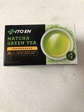 Ito En Organic Matcha Green Tea Lemongrass 1 Box 20 Tea Bags