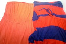 Lot 2 XS S OLD NAVY Strapless Stretch Orange Dresses Short Maxi Orange navy