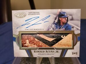 Ronald Acuna Jr. 1/1 Tier 1 Limited Lumber Bat Relic Autograph.  Game Used Bat!!