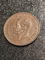 1861-M Italy 5 Centesimos Ch AU/Slider Uncirculated