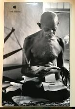 New 1998 Original Apple Think Different Poster Mahatma Ghandi Size 11 x 17