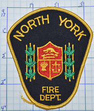 CANADA, NORTH YORK FIRE DEPT GOLD EDGE PATCH