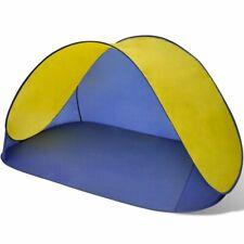 vidaXL Strandtent Opvouwbaar Waterafstotend UV-Bestendig Geel Strand Tent