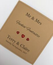 Controversial Adult Humour Personalised  Handmade Wedding Day Card