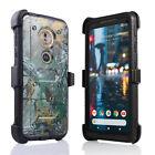 Motorola Moto G6 Play Shockproof Holster Belt Clip Stand Heavy Duty Phone Case