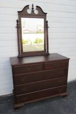 Solid Mahogany Dresser Bathroom Vanity with Mirror by Hungerford 1221