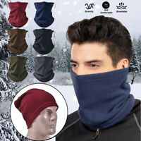 Thermal Neck Warmer Snood Winter Motorbike Cycling Fleece Tube Scarf  Unisex