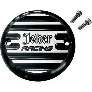 Joker Racing Black Finned Timer / Points Cover Big Twin 70-99 Sportster 04-20