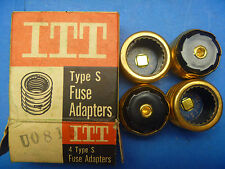 ITT  Type SA 15 Fuse Adapters Fusestat No. UO-81 (4 each)