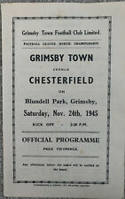 More details for grimsby town v chesterfield 1945/46