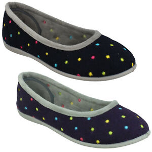 LADIES PADDERS SLIP ON CASUAL INDOOR FLAT HOUSE SLIPPERS SHOES SIZE BALLERINA