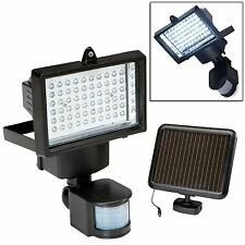 60 LED SOLAR PIR MOTION SENSOR SECURITY FLOODLIGHT LAMP GARDEN OUTDOOR LIGHT