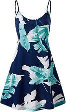 MSBASIC Women's Sleeveless Adjustable Strappy Summer Beach Swing Dress