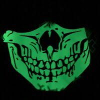 Unisex Neon Glow In The Dark Protective Fabric Face Mask - Mouth Masks Reusable