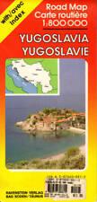 Yugoslavia Road Map Index 1:800,000 Zagreb Belgrade Sarajevo Titograd Danube