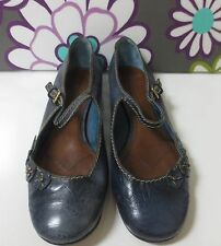 MARC JACOBS Blue Tooled Leather Mary Janes Shoes Italy 41 GREAT DEAL