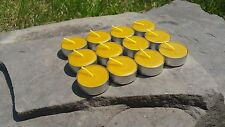 12 Hand Poured Beeswax Tealight Candles, All-natural Cotton Wick, Aluminum Cups