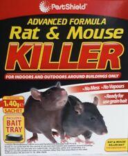 Mouse & Rat killer No.1 Quality Advance Formula 'READY FOR USE GRAIN BAIT' +Tray