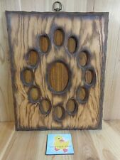 "School Years Picture Frame K-12 Wood Grain Oval Slots Retro Mid Century 17""x14"""