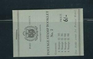 SAMOA 1960 6 shilling BOOKLET (SG SB5 or SB5a) VF MNH