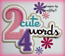 CRAFTECAFE GIRL BABY TITLE premade paper piecing scrapbook diecut  piece WOLFFEY