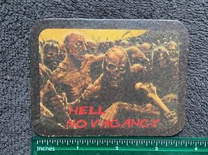 100% LEATHER Hell No Vacancy Zombie Outlaw Biker Patch