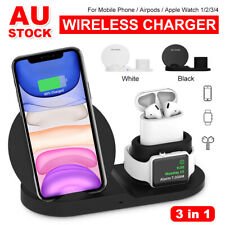 3 in 1 Qi Wireless Charger Charging Dock Stand Station For Apple iPhone Watch