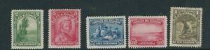 Équateur 1937 Weavers, Or Laver Etc (Scott 361-65) F MH Avec Vestige