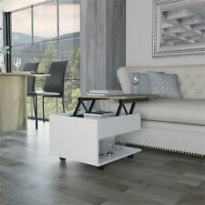 Tuhome Furniture Luanda Lift Top Coffee Table With Casters in White