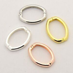 Brass Shortener Clasps, Twister Clasps, Oval Ring, Mixed Color, 27x20x3.5mm