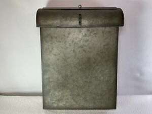 Vintage Inspired Vertical Galvanized Steel Wall Mounted Lockable Hanging Mailbox